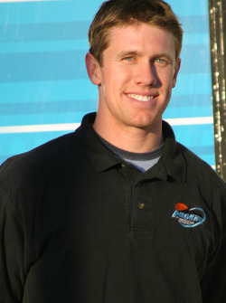 Carl Edwards at the lighting ceremony