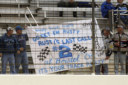 Rusty Wallace's fans show their support during qualifying