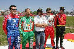 Dario Franchitti, Tony Kanaan, Michael Andretti, Dan Wheldon and Bryan Herta