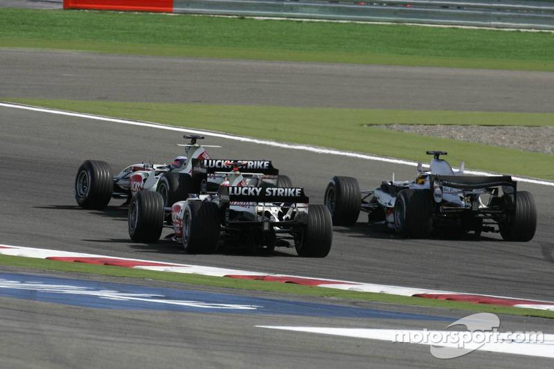 Takuma Sato, Jenson Button, Pedro de la Rosa