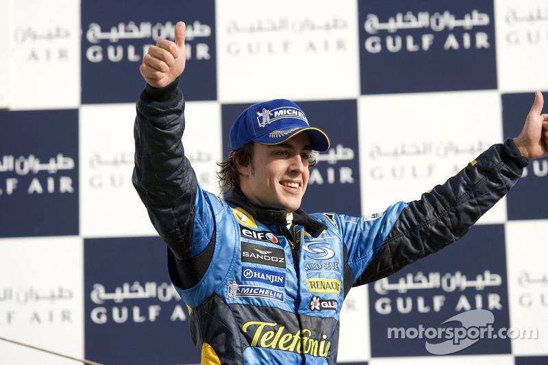 9 pilotos que ganaron el Grand Premio de Bahrein, se convirtieron en campeones de la temporada