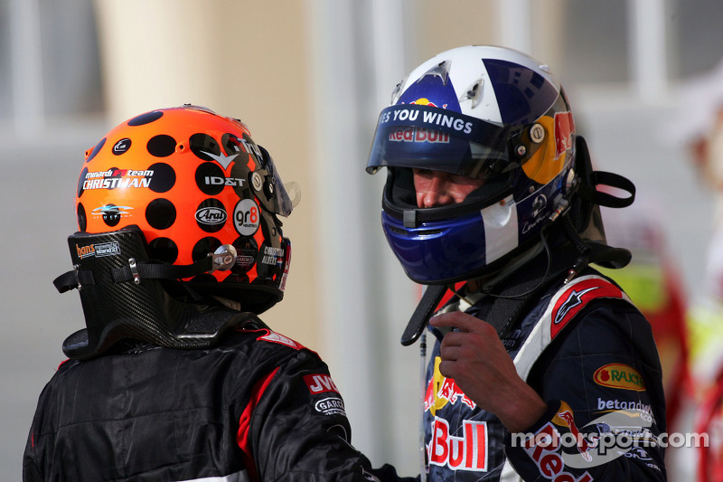 David Coulthard y Christijan Albers
