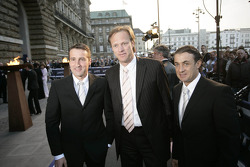 Bernd Schneider, announcer Gerhard Delling and Jean Alesi