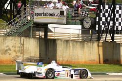 #1 Champion Racing Audi R8: JJ Lehto, Marco Werner takes the checkered flag