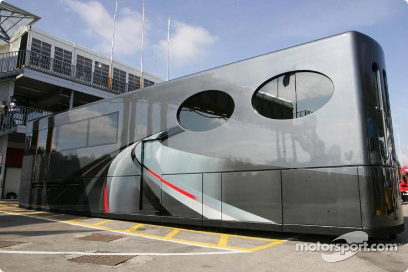 The motorhome of Bernie Ecclestone