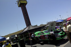 Team Interstate Batteries work on the #18