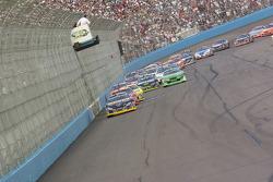 Kurt Busch leads the first lap