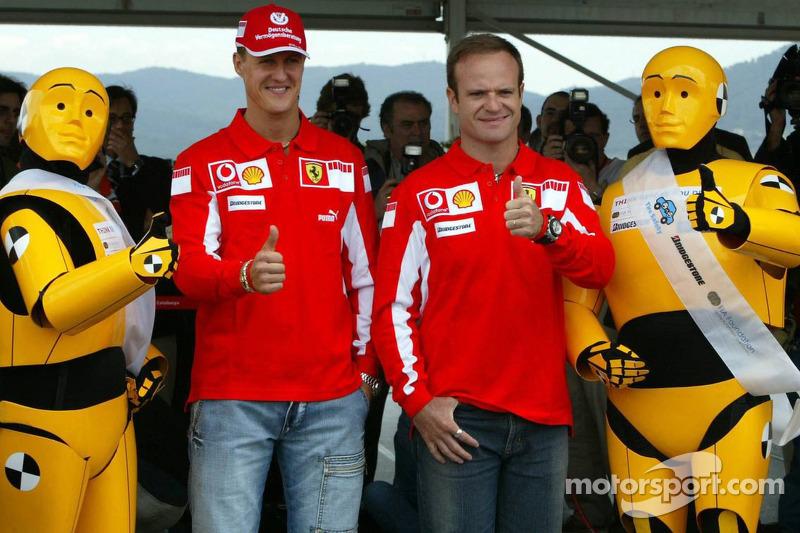 FIA Foundation, Bridgestone - Road Safety Campaign 'Think before you drive': Michael Schumacher and Rubens Barrichello
