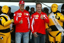 FIA Foundation, Bridgestone - Road Safety Campaign 'Think before you drive': Michael Schumacher and Rubens Barrichello