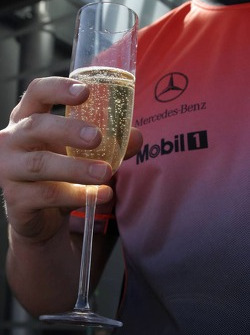 Victory celebrations at McLaren