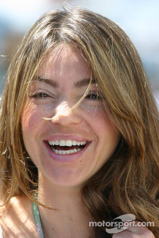 Simone Abdelnour, girlfriend of David Coulthard at Spanish GP