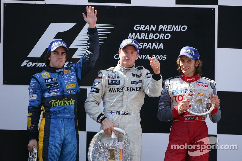 2005: 1. Kimi Räikkönen, 2. Fernando Alonso, 3. Jarno Trulli