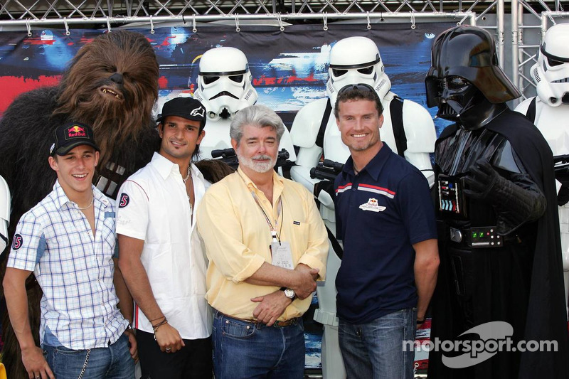Christian Klien, Chewbacca, Vitantonio Liuzzi, David Coulthard, George Lucas y Darth Vader