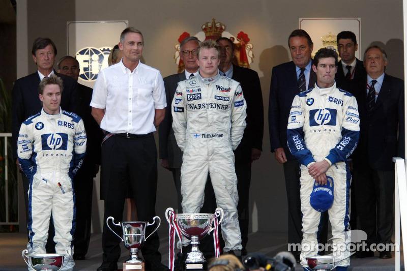2005: 1. Kimi Räikkönen, 2. Nick Heidfeld, 3. Mark Webber