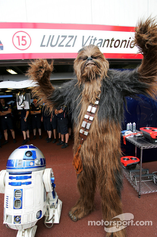 R2-D2 and Chewbacca