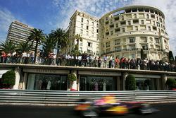 Monaco fans watch the race