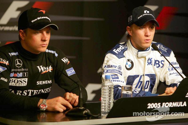 Saturday press conference: pole winner Nick Heidfeld with Kimi Raikkonen