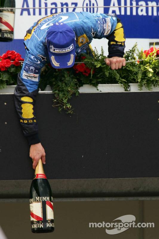 Podium : Fernando Alonso, vainqueur de la course