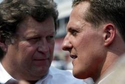 Norbert Haug and Michael Schumacher