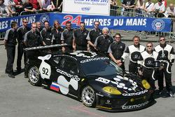 #92 Cirtek Motorsport Ferrari 360 Modena GTC: Joe Macari, Stephen Eriksson, Rob Wilson and team members