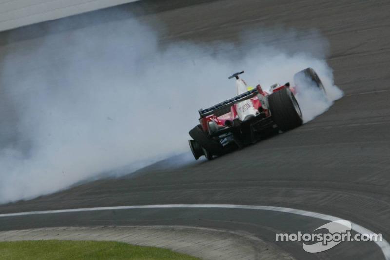 Unfall von Ralf Schumacher