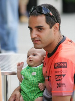 Juan Pablo Montoya and son Sebastian