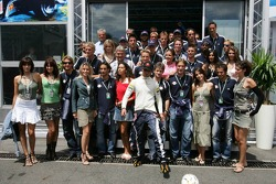 Vitantonio Liuzzi with Red Bull Salzburg football team players
