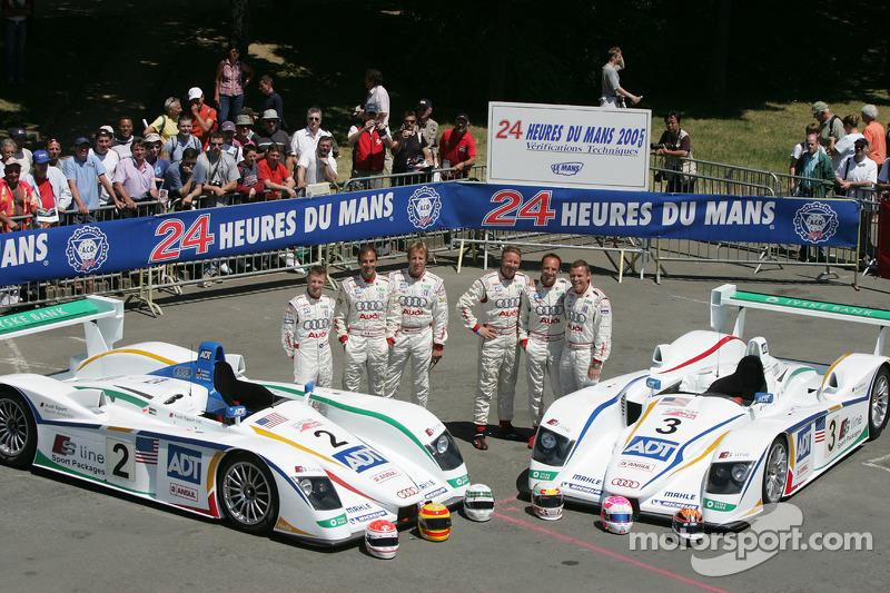 Champion Racing Audi R8 : Frank Biela, Allan McNish et Emanuele Pirro; JJ Lehto, Marco Werner et Tom Kristensen