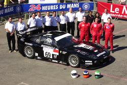 #69 JMB Racing Ferrari 575 GTC: Jim Matthews, Stéphane Daoudi, Jean-René de Fournoux and team