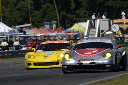 #50 Panoz Motor Sports Panoz Esperante GTLM: Bill Auberlen, Robin Liddell, #3 Corvette Racing Corvette C6-R: Ron Fellows, Johnny O'Connell