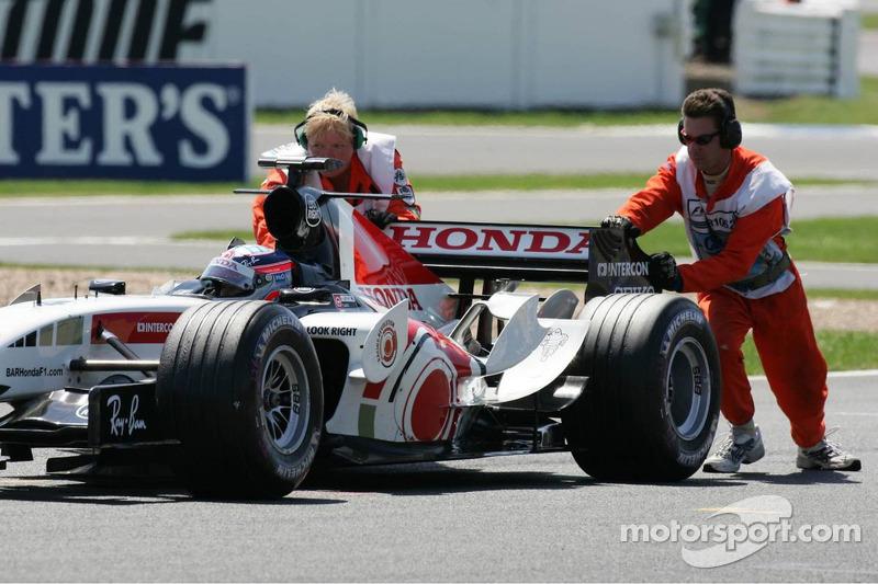 Takuma Sato stopped, grid
