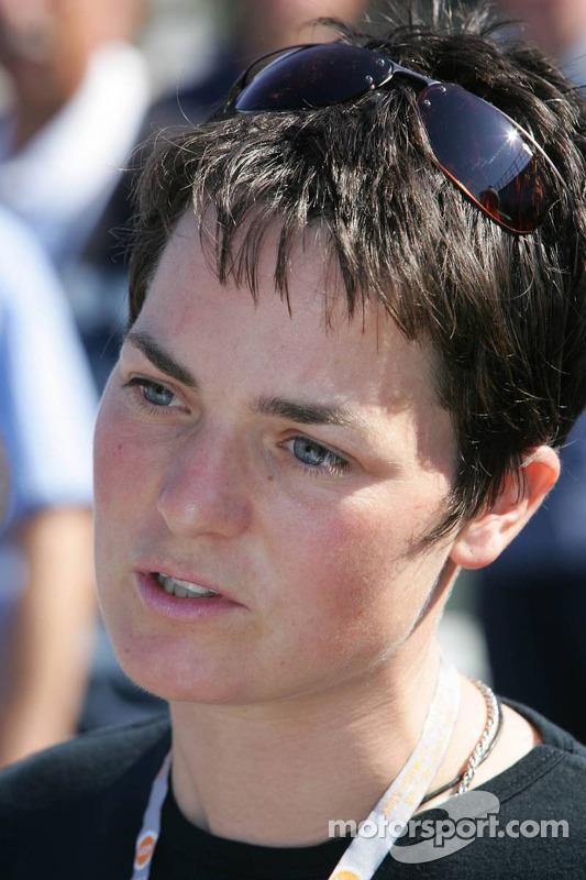 Estrella de la navegante británica Ellen MacArthur
