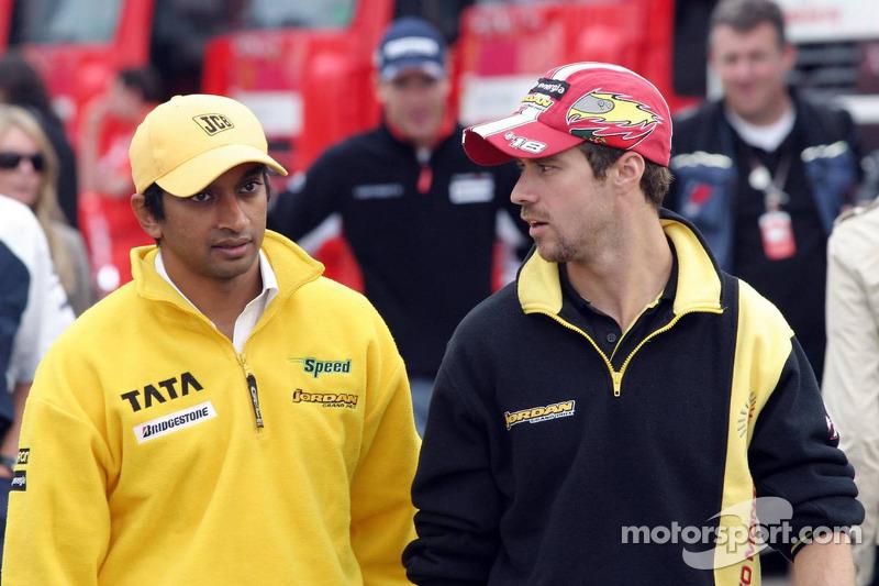 Narain Karthikeyan y Tiago Monteiro