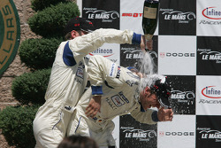 GT2 podium: champagne for everyone