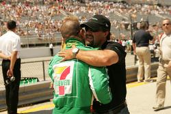 Tony Kanaan and Michael Andretti