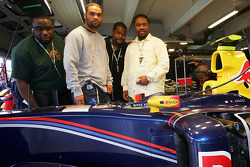 Rock band The Roots visit Red Bull Racing