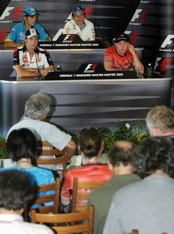 Thursday FIA press conference: Giancarlo Fisichella, Jacques Villeneuve, Jenson Button and Kimi Raikkonen
