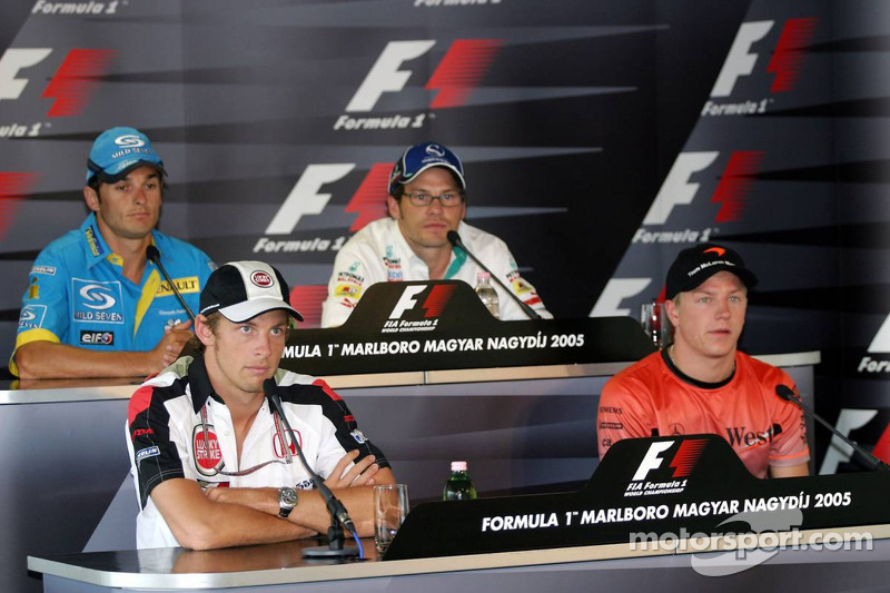Thursday FIA press conference: Giancarlo Fisichella, Jacques Villeneuve, Jenson Button and Kimi Raik
