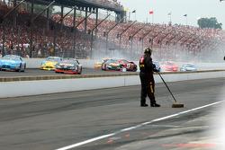 Dale Earnhardt Jr., Martin Truex Jr. and Scott Wimmer crash