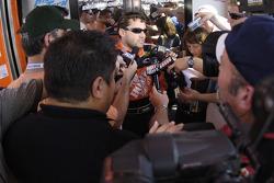 Tony Stewart meets the media