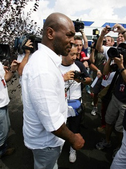 Heavyweight boxer Mike Tyson