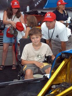 Nicholas Patte, dad inspect No. 20 MDA car