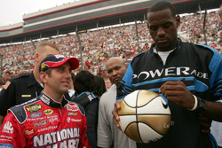 LeBron James and Greg Biffle