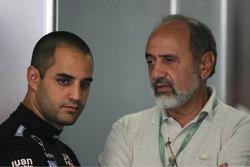 Juan Pablo Montoya with his father Pablo
