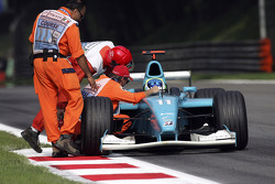 Olivier Pla stopped on the track