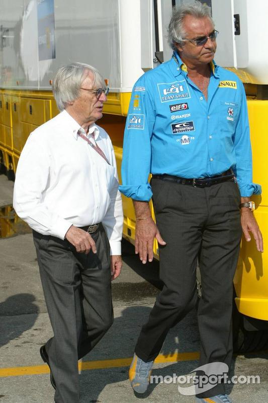 Bernie Ecclestone y Flavio Briatore