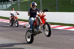 Christian Klien on a motocross bike