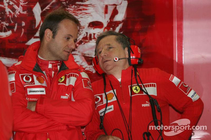 Rubens Barrichello y Jean Todt