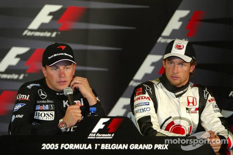 Conferencia de prensa: ganador de la carrera Kimi Raikkonen con Jenson Button