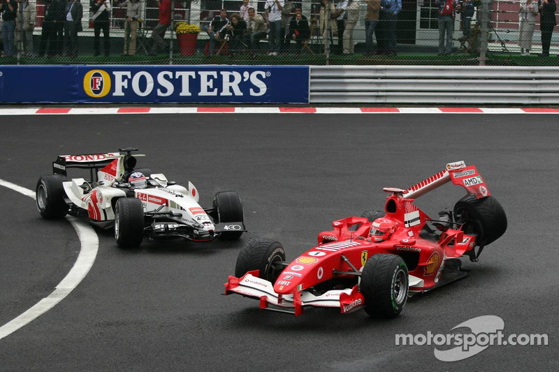 Michael Schumacher ve Takuma Sato kaza